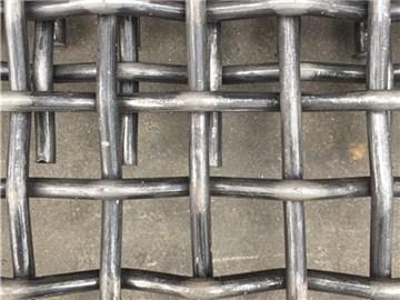 锰钢轧花网